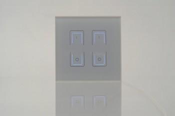 Touch-Dimmer Fernbedienung, 2 Zonen, weiß
