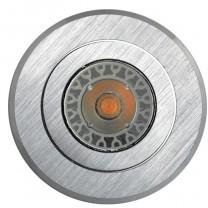 Gehäuse MR16, Aluminium gebürstet, rund