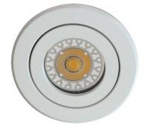 Gehäuse MR16, Aluminium weiß, rund