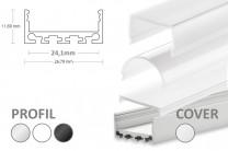 24mm LED-Aufsatz-Profil PN4