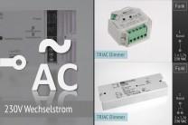 LK55 AC Funk-Dimmer für 230V-Leuchten u.a.