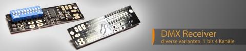 mini and micro DMX receiver 1-4 channel