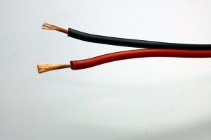 Zwillingslitze 0,75 mm² rot/schwarz