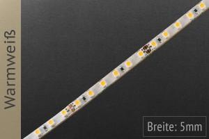 Nur 5mm breiter LED-Streifen: LED-Typ 3528, 120 LED/m, 700lm/m