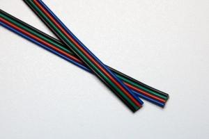 RGBW-Flachband-Kabel 5x0,25mm²