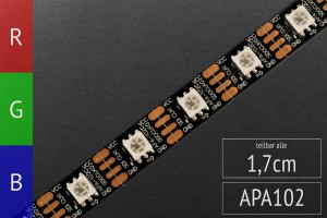LED-Flexband digital APA102, 4m Rolle, 60 Pixel/m