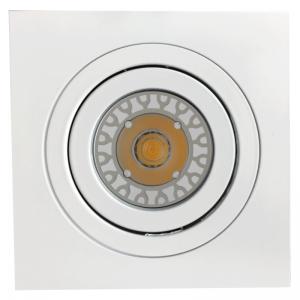 Gehäuse MR16, Aluminium weiß, quadratisch