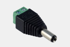 Hohl-Stecker 2,1/5,5mm Schraubklemmen