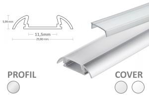 11mm LED-Aufsatz-Profil PO17