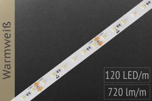 LED-Streifen 2216 WW 2900-3100K, 120LEDs/m, CRI>90, 24V