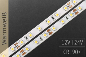 Akzent-Beleuchtungen: LED-Streifen 3528, mit 78 LEDs/m, 740 lm/m