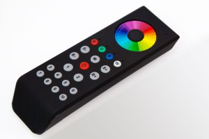 10-Zonen RGBW-Fernbedienung mit Farbrad, schwarz