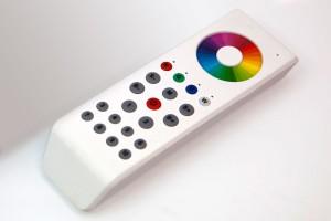 10-Zonen RGBW-Fernbedienung mit Farbrad, weiß