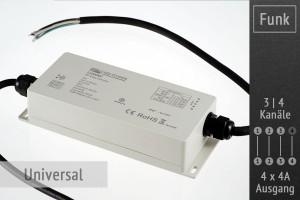 Funk-Controller universal, 4 x 4A, IP67 wasserfest