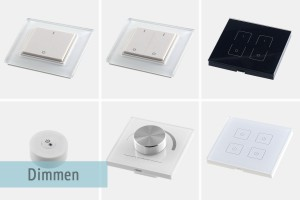 wall mounted remote control for dimming
