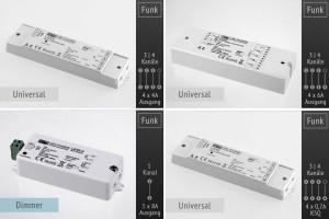 LK55 Universal Controller 12-36V, (DIM, CCT, RGBW)
