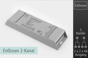 EnOcean LED-Controller 2-Kanal, 2x2x4A