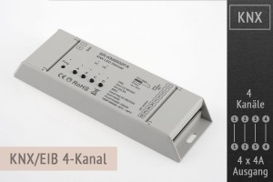 KNX RGBW-LED-Controller 4-Kanal, 4x4A
