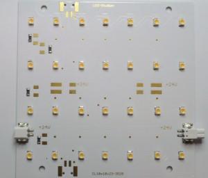 LED-Modul Platine 10x10 warmweiß bestückt