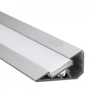 22mm LED-Aufsatz-Profil 30° Voute, silber, 2m
