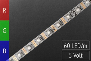 1m LED-Streifen RGB, 3in1 LEDs, 60 LEDs/m, 5V