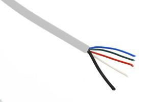 RGBW-Kabel, max. 8A, weiß, halogenfrei
