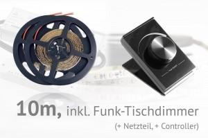 LED-Set: 10 Meter, mit Funk-Tischdimmer