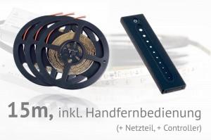 LED-Set: 15 Meter, mit Handfernbedienung