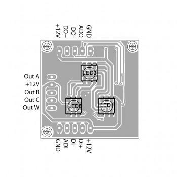 DMX Breakout-Board MY9943, Single-Line Adressierung