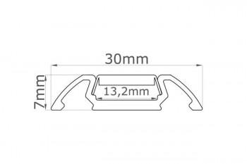 Auslaufmodell: 2m Aufsatz-Aluprofil STO inkl. Abdeckung