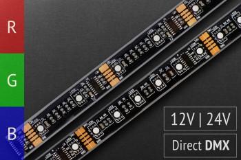 Direkt über DMX steuerbare Pixel-LED-Streifen   12 & 24V   IP65