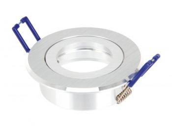 Gehäuse MR16, Aluminium satiniert, rund