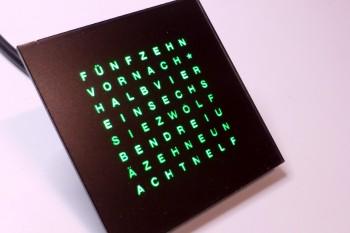 Frontplatte Wordclock Plexi schwarz 30mm