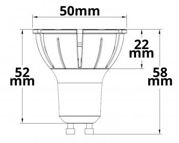 LED-Spot ISOLED, 8W, 10° - 230V GU10 - 3.000K