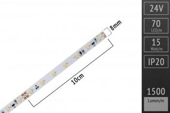 LED-Streifen 3020 WW 6000-6500K, 70LEDs/m, CRI>90, 24V