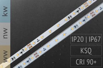 Abverkauf: Wasserschutz (IP67) verfügbar: LED-Streifen 3020 - 70 LED/m - 1.500 lm/m