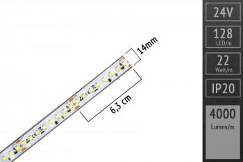 LED-Streifen 2835 - KW 6000K - 4.000lm/m - 24V - IP67
