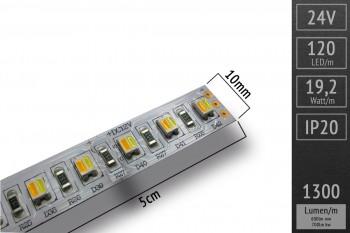 Abverkauf: CCT-LED-Streifen - 2in1 LEDs - ges. 1.300lm/m - CRI>90 - Meterware