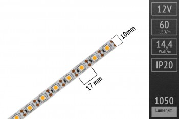 LED-Streifen 5050 - WW 3000K - 1 LED Cut