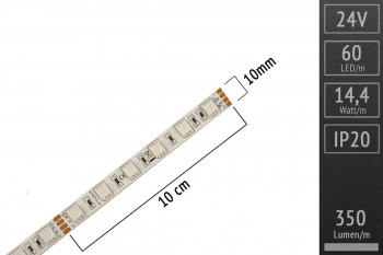 LED-Streifen RGB, 3in1 LEDs, 60 LEDs/m, 24V