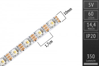 LED-Band digital SK6812 RGBW - 4m - 60 Pixel/m