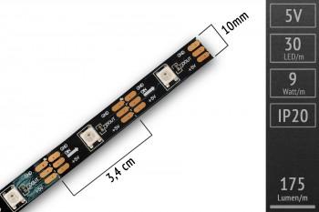 LED-Flexband digital SK6812 (wie WS2812) - 5m - 30 Pixel/m - schwarz