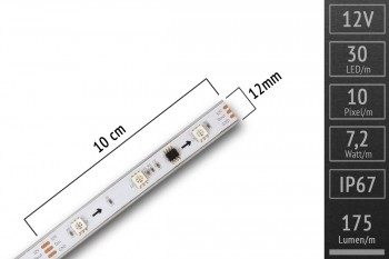 LED-Band digital WS2811 - 30 RGB-LEDs/m - IP67 - 12V