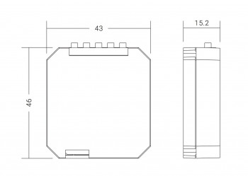 Dimmer Funk-Einbaumodul für alle Lichttaster - 2 Zonen, ohne Batterie