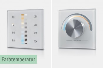 Wandsteuerungen für Helligkeit & Farbtemperatur (LK55)