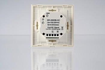 RGBW Touch-Wandsteuerung - 4 Zonen - weiß