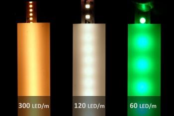 2m LED-Aufsatz-Profil PN4 breit (für 2 parallele LED-Streifen)