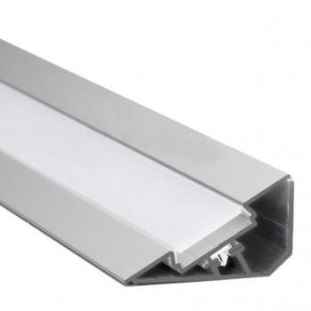 2m LED-Aufsatz-Profil 30° Voute (für 2 parallele LED-Streifen)