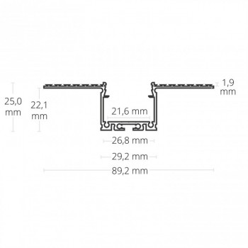 2m LED-Trockenbauprofil TBP13 - nur auf Anfrage!