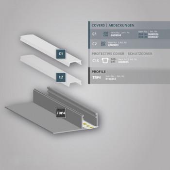 2m LED-Trockenbauprofil TBP4 - nur auf Anfrage!
